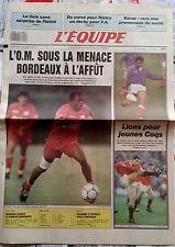 L'Equipe Journal 4/10/1989; L'OM sous la menace/ Korac/ Longo/ Vatanen/ XV de Fr