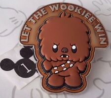 Let The Wookie Win Star Wars Cuties Baby Chewbacca 3D Free D 2016 Disney Pin
