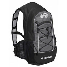 Llevó a cabo a-Go Negro/gris Moto Motocicleta Moto Impermeable Backpack | 12 L