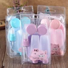 7pcs Portable Travel Mini Plastic Transparent Empty MakeUp Container Bottle Sets