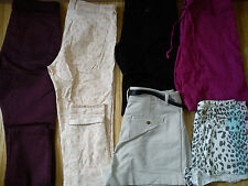 NICE USED NEW 6x BUNDLE LADIES WOMENS SKINNY TROUSERS SHORTS JEANS SIZE 10 (1.6)