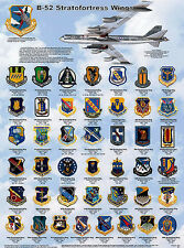 B-52 Stratofortress Wings Laminated Educational Airplane Chart Poster 24x36