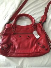 New Balenciaga Red Classic Town Bag Crossbody
