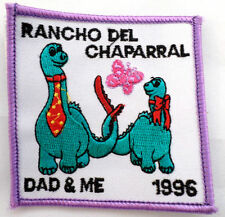 Girl Scout Gs Uniform Patch Camp Rancho Del Chaparral Dad And Me Dinosaur  #Gspp