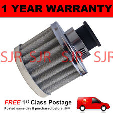 16mm AIR OIL CRANK CASE BREATHER FILTER MOTORCYCLE QUAD CAR SILVER ROUND