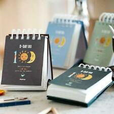 """100 Days"" 1pc Mini Planner Agenda Scheduler Cute Coil Weekly Journal Notebook"