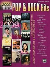 Greatest Pop and Rock Hits 2009 by Alfred Publishing Staff (2009, Paperback)