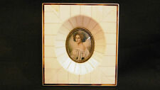 Lovely Antique miniature portrait painting of a woman