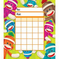 TREND Sock Monkeys Reward Incentive Chart Pad + 200 Free Chart Stickers