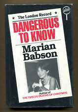 Dangerous to Know by Marian Babson-Signed First US Edition/DJ-1980