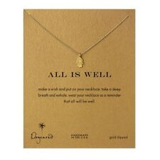 "Dogeared Gold Dipped All Is Well Hamsa Reminder 16"" Boxed Necklace"