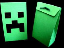 Minecraft Creeper Birthday Party Favor Treat Filler Gift Bag Sturdy Sm Box Boxes