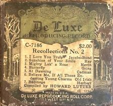 De Luxe Welte RECOLLECTIONS No. 2 Lutter 7 Selections C-7186 Player Piano Roll