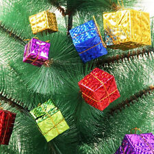 60 Pcs Christmas Tree Ornaments Foam Xmas Tree Hanging Gift Box Decoration
