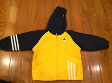 Addidas boys 3T Jacket with hood EC:) blue and yellow+ so cute
