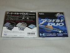 PC ENGINE SUPER CD ROM 2 PRO DUO CASE & MANUAL ONLY JAPAN IMPORT HE SYSTEM NEC