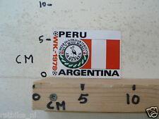 STICKER,DECAL WK ARGENTINA 1978 VOETBAL,SOCCER JH HENKES PERU