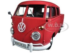 VOLKSWAGEN TYPE 2 (T1) DOUBLE CAB PICKUP TRUCK WAX RED 1:24 MOTORMAX 79343