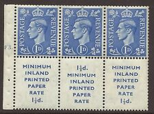 QB18 1d Light Ultramarine Booklet pane perf Ie top Cyl F5 Dot UNMOUNTED MNT/MNH