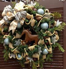 Cowboy Christmas Wreath With Horse