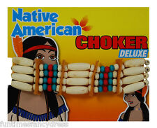 Deluxe Red Indian Squaw Choker Necklace Pocahontas Cherokee Apache Fancy Dress