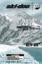 Ski-Doo owners manual book 2012 REV-XR Grand Touring LE & Grand Touring SE