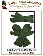 1914 Mens Knitted Gloves for Soldiers Hunters & Sailors