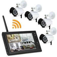 "Wireless 7"" TFT LCD 2.4G 4CH Quad Home Security System Monitor & 4pcs IR Cameras"
