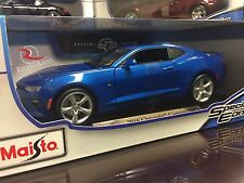 Maisto 1:18 Scale Special Edition Diecast Model- 2016 Chevrolet Camaro SS (Blue)