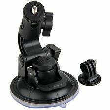 """Suction Cup Mount for GoPro Hero 1/2/3/3 + +1/4"""" Tripod Mount Adapter (black)"""