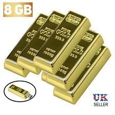 NOVELTY Gold Bar Bullion Usb Stick 8GB Memory Computer Pc Gift Flash Drive 2.0