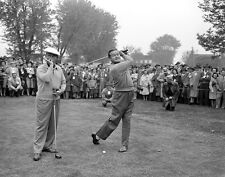 Bing Crosby & Bob Hope Playing Golf Print 11 x 14   #4183