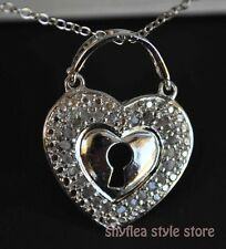 """Diamond Heart Locket Necklace Sterling Silver Victoria Townsend Love New 18"""""""
