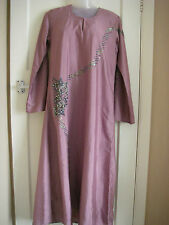 BEADED LILAC LONG WEDDING, PARTY, EVENING WEAR ABAYA JILBAB DRESS, HIJAB NIQAB