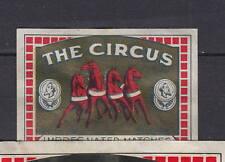 Ancienne  étiquette    allumettes  Belgique   AZ4090   Circus Cheval 38