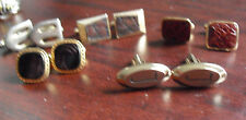 Lot of 5 Vintage Sets of Vintage Cufflinks Anson Swank Hickok LOOK