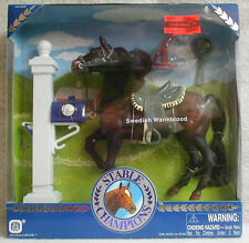 Vintage Kid Kore Stables Champion Swedish Warm Blood Toy Horse w/Accessories NIB