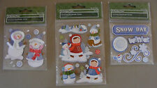 3 Packs of Very Cute Christmas Scrap Booking  Sticker Embellishments (X-101)