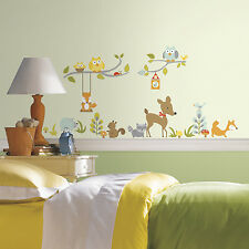 52 New Happi WOODLAND FOX & FRIENDS WALL DECALS Forest Animals Stickers Decor