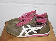 EUC Asics Onitsuka Tiger HN567 Brown Pink Athletic Running Shoes Sz 10.5