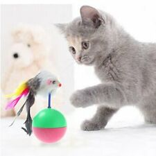 Pet Cat Funny Feather Mice Mouse Ball Tumbler Wobbler Interactive Game Play Toy