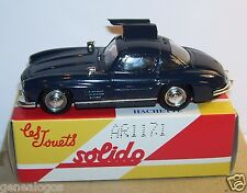 MINIATURE SOLIDO MADE IN FRANCE MERCEDES 300 SL 1954 BLEU NUIT 1/43 IN BOX 1