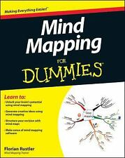 Mind Mapping For Dummies Rustler, Florian Books-Good Condition
