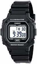 Casio Digital Chronograph Watch, Black Resin, Alarm, 7 Year Battery, F108WH-1A