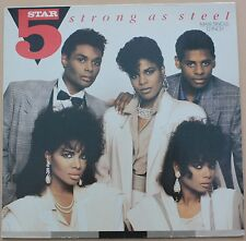 """5 STAR - Strong as steel - MAXI LP VINYL 12"""" 45 RPM 1987 NM/VG+ CONDITION"""