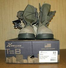 Wellco Safety Steel Toe Boots USAF P/N 1003 Size 13.5W Sage Green New in Box