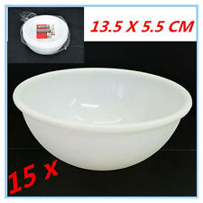 15 X WHITE COLOUR PLASTIC ROUND BOWLS BOWL KITCHEN HOME SALAD RESTAURANT AP
