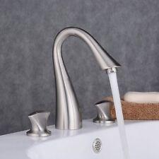"""8"""" Brushed Nickel Bathroom Widespread Sink Faucet 3 Hole Waterfall Vanity"""