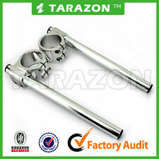 Tarazon billet aluminium clip on handlebars.Silver 33mm cafe racer.