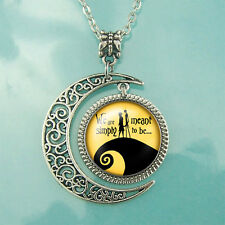 Charm Crescent Moon Nightmare Before Christmas Pendant Necklace Christmas Gifts